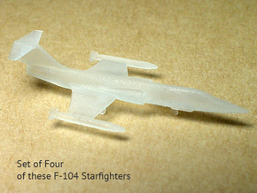 4x 1/350 scale F-104 Starfighter with Gear Down in Frosted Ultra Detail