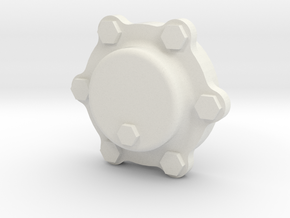 Journal Cap in White Natural Versatile Plastic