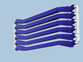 6 medium navy struts in Blue Processed Versatile Plastic