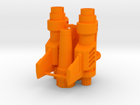Psychotic Gunner's Blasters in Orange Processed Versatile Plastic