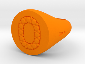 "Ring Chevalière Initial ""O""  in Orange Processed Versatile Plastic: 5 / 49"