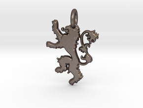 Lannister Sigil Keychain in Polished Bronzed Silver Steel