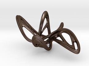 Dancing Butterfly Earring or Pendanttop in Polished Bronze Steel