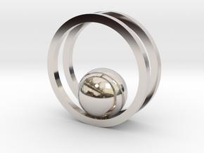 Minimalist Necklace - Yoga Pendant in Rhodium Plated Brass