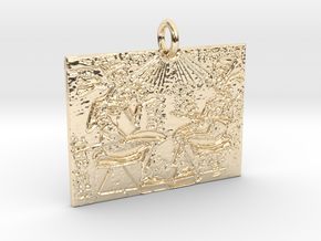 Royalty Pendant in 14k Gold Plated Brass