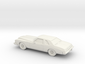 1/87 1976 Buick Riviera in White Natural Versatile Plastic