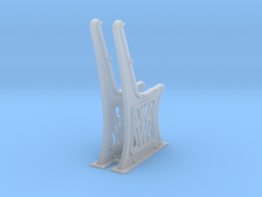 Gwr Bench ends 10mm scale in Smooth Fine Detail Plastic