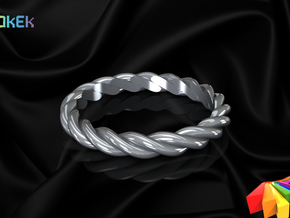 Twisted sz20 in Polished Bronzed Silver Steel