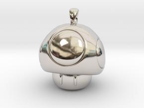 1UP Mushroom pendant in Platinum