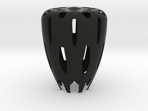 Lamp shade hex.  in Black Natural Versatile Plastic