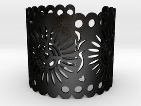Papel Picado 1 in Matte Black Steel