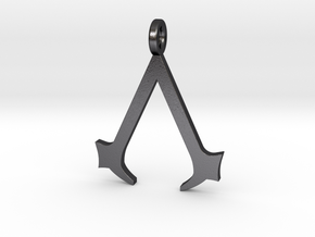 Assassin's Creed Keychain in Polished Grey Steel