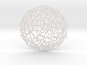 Drink coaster - Voronoi #5 (8 cm) in White Strong & Flexible