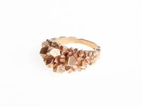 Crystal Ring Size 8 in Natural Bronze