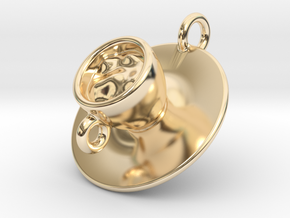 Cup Of Coffee in 14K Yellow Gold