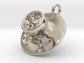Cup Of Coffee in Rhodium Plated Brass