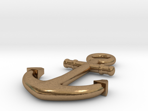 Anchor in Natural Brass