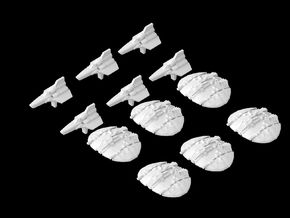 (Armada) 6x Viper Mk I 6x Old Cylon Raiders in Frosted Ultra Detail