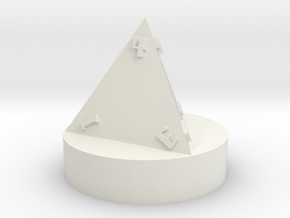 D20 Chess - Pawn in White Natural Versatile Plastic