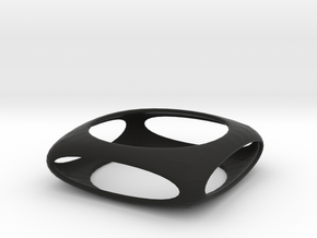 Bangle Box (Size S)  in Black Natural Versatile Plastic
