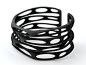 Rocker Coil (Size L) in Black Natural Versatile Plastic
