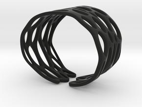 Seaweed Bracelet (Size M) in Black Natural Versatile Plastic