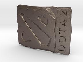 Dota2 Buckle in Polished Bronzed Silver Steel