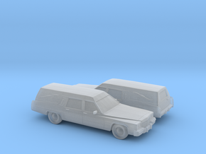 1/160 2X 1985-89 Cadillac Hearse in Smooth Fine Detail Plastic