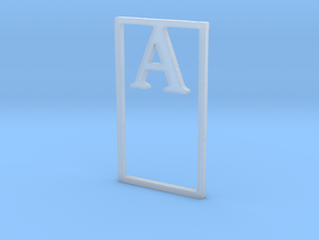 Bookmark Monogram. Initial / Letter A  in Smooth Fine Detail Plastic