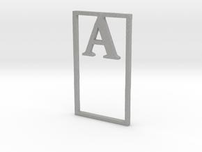Bookmark Monogram. Initial / Letter A  in Aluminum