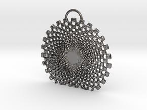 Vexate Pendant in Polished Nickel Steel