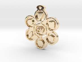 Stages of Creation Pendant in 14K Yellow Gold