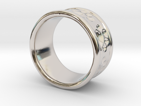 Dog Ring2 in Rhodium Plated Brass