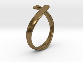 """I Love You"" Ring in Natural Bronze"