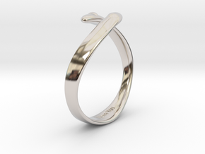 """I Love You"" Ring in Rhodium Plated Brass"