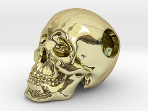 Human Skull Bead - small in 18K Gold Plated