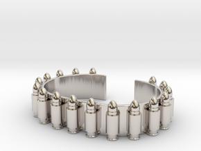 Gunbelt Bracelet in Platinum