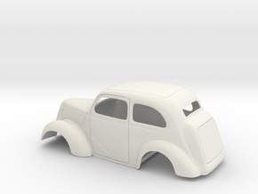 1/16 1949 Anglia Full Body Slammer in White Natural Versatile Plastic