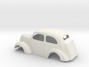 1/18 1949 Anglia Full Body Slammer in White Natural Versatile Plastic