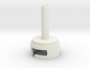 Airpump Nozzle for Inflatables in White Natural Versatile Plastic
