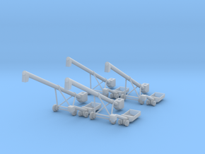 4 MK100x40 Truck Loader Augers N Scale in Smooth Fine Detail Plastic