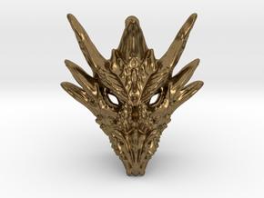 Umbral Dragon Small Pendant in Natural Bronze