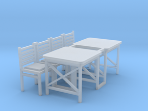 Cafe Table (2) - HO 87:1 Scale in Smooth Fine Detail Plastic