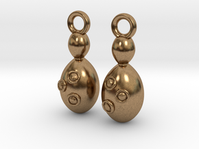 Saccharomyces Yeast Earrings - Science Jewelry in Natural Brass