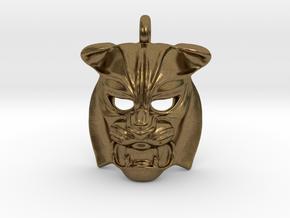 Tiger kabuki-style Pendant small in Natural Bronze