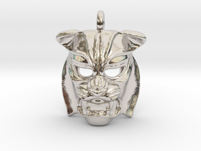 Tiger kabuki-style Pendant small in Platinum