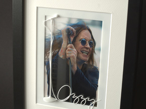 Ozzy Osbourne for photo frame in White Processed Versatile Plastic
