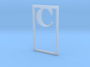 Bookmark Monogram. Initial / Letter  C  in Smooth Fine Detail Plastic