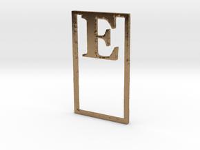 Bookmark Monogram. Initial / Letter  E  in Natural Brass