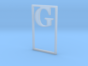 Bookmark Monogram. Initial / Letter G  in Smooth Fine Detail Plastic